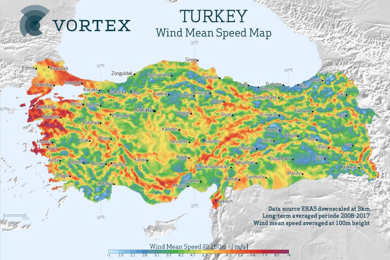 Türkiye Güncel Rüzgar ve Güneş Enerjisi Haritaları